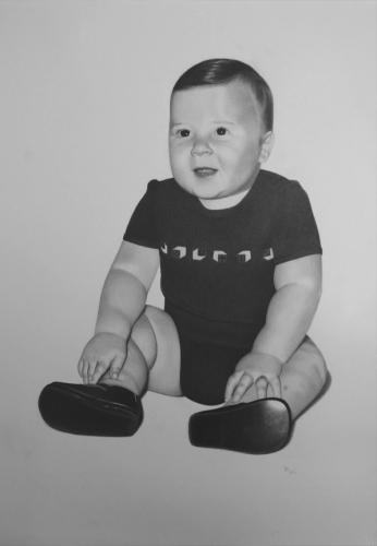 retrato dibujo bebé