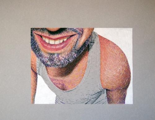 Retrato a pastel de un hombre