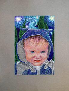 retrato niño martin pastel